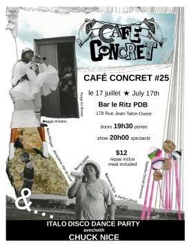 25 Cafe Concret poster