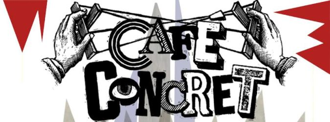 cafe concret logo with fun red bits