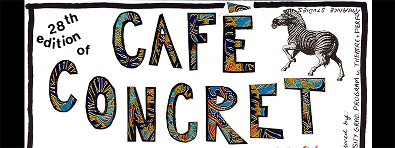 28 Cafe Concret Poster Toronto for events page